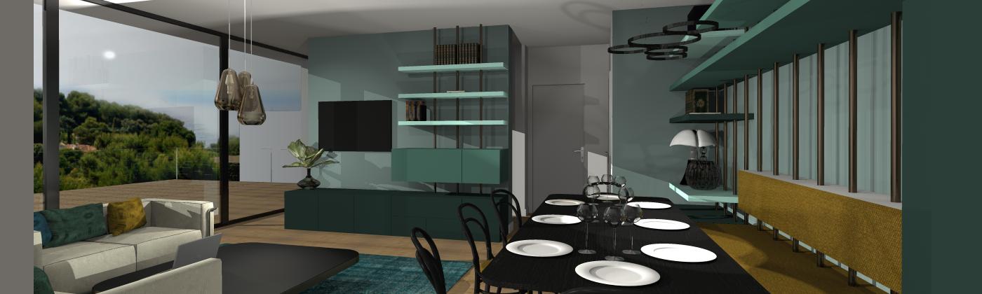 """Architecture minimaliste pour un intérieur """"hot en couleurs"""""""