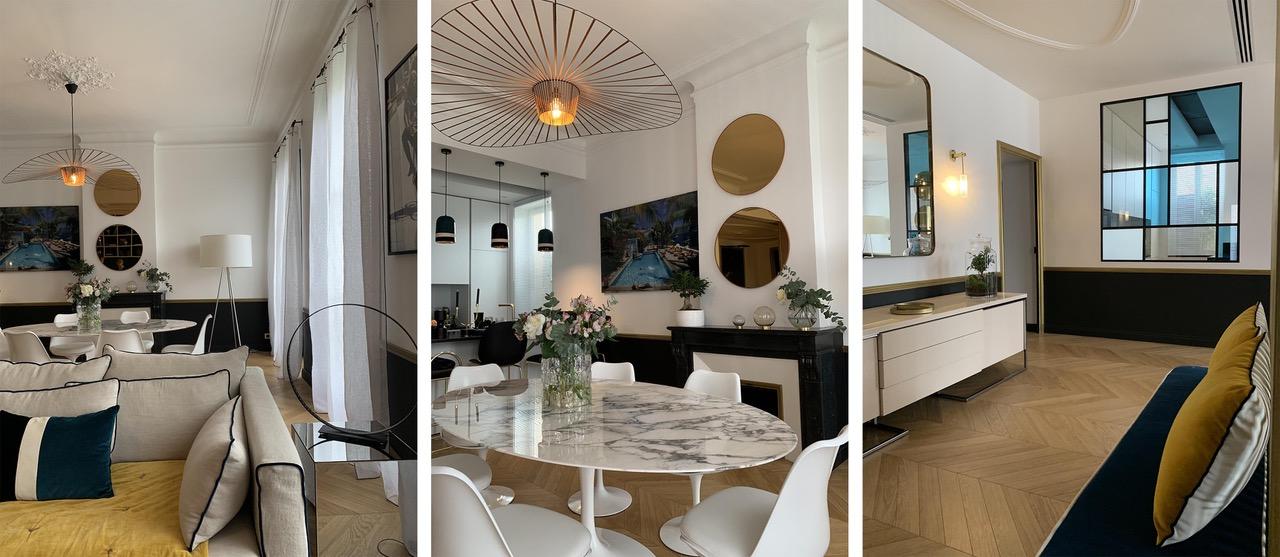 Rénovation, architecture d'intérieur, Virgnie Dumon joue avec les volumes, la lumière, les couleurs et le mobilier pour créer des espaces clairs et harmonieux