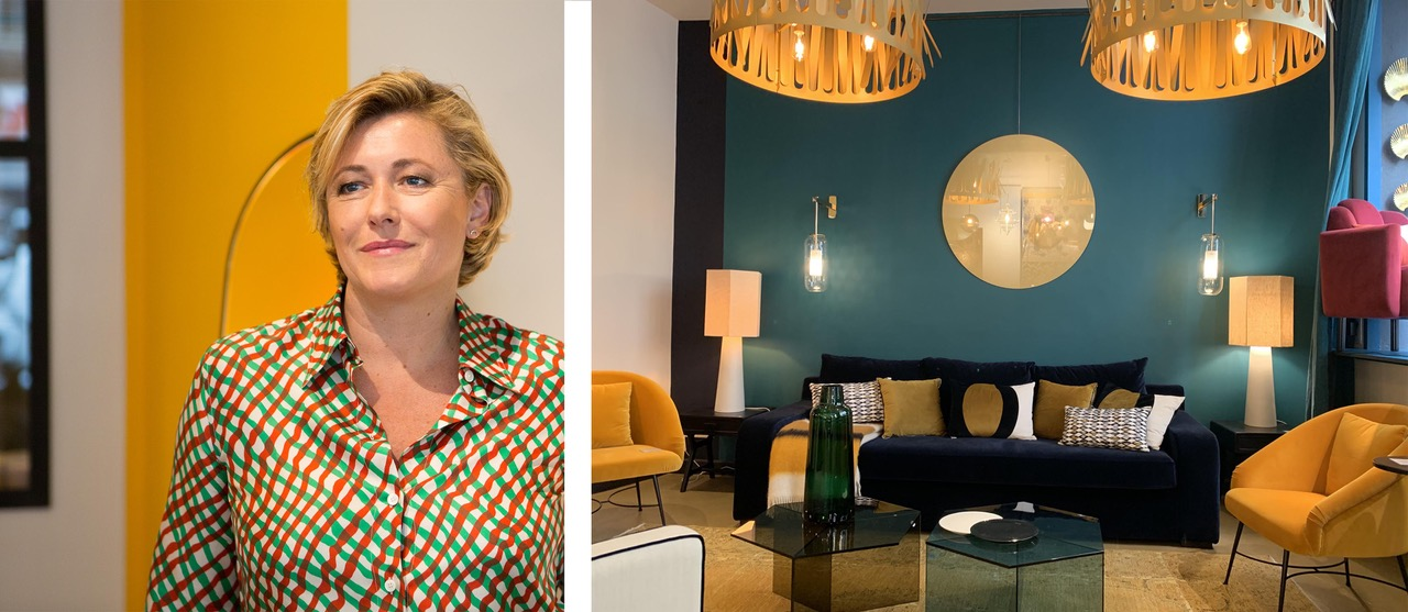 Virginie Dumon, architecte d'intérieur et fondatrice du magasin de décoration L'Âne Bleu