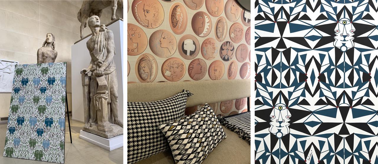 La collection THE WALL chapitre 2 de Lelièvre Paris s'inspire des esquisses de Jean Cocteau pour une collection de papiers peints résolument contemporaine.