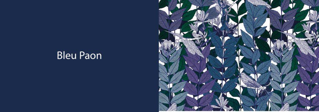 Bleu Paon et papier peint Libellule par RESSOURCE