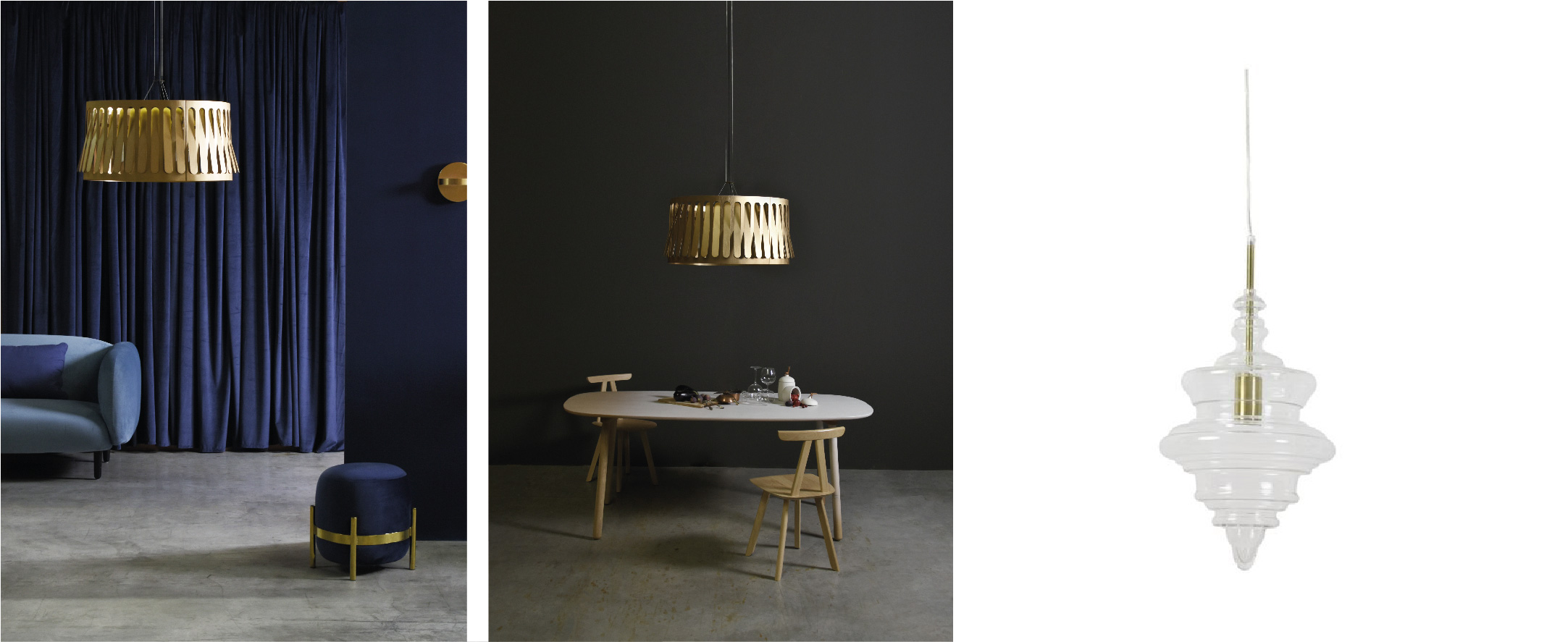 Suspension Domestique par Eno Studio / suspension Rivne par Light & Living