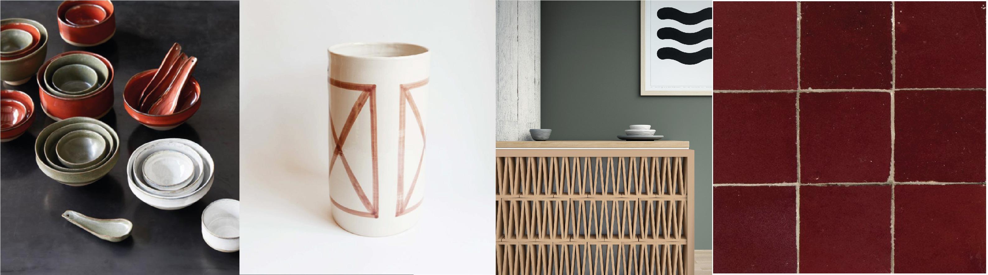 Vaisselle Merci par Serax / Vase par Datcha / Celosia par Mutina / Les ateliers Zelij